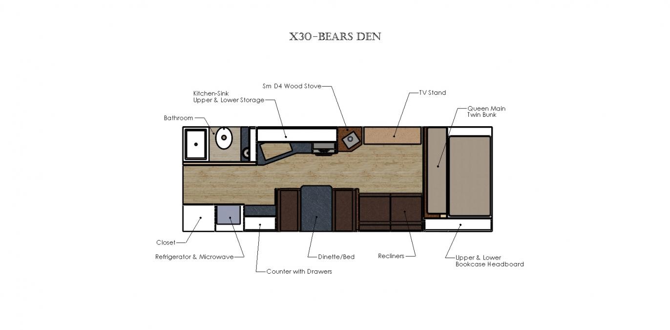 X30 - BEARS DEN Solitude Series Camp